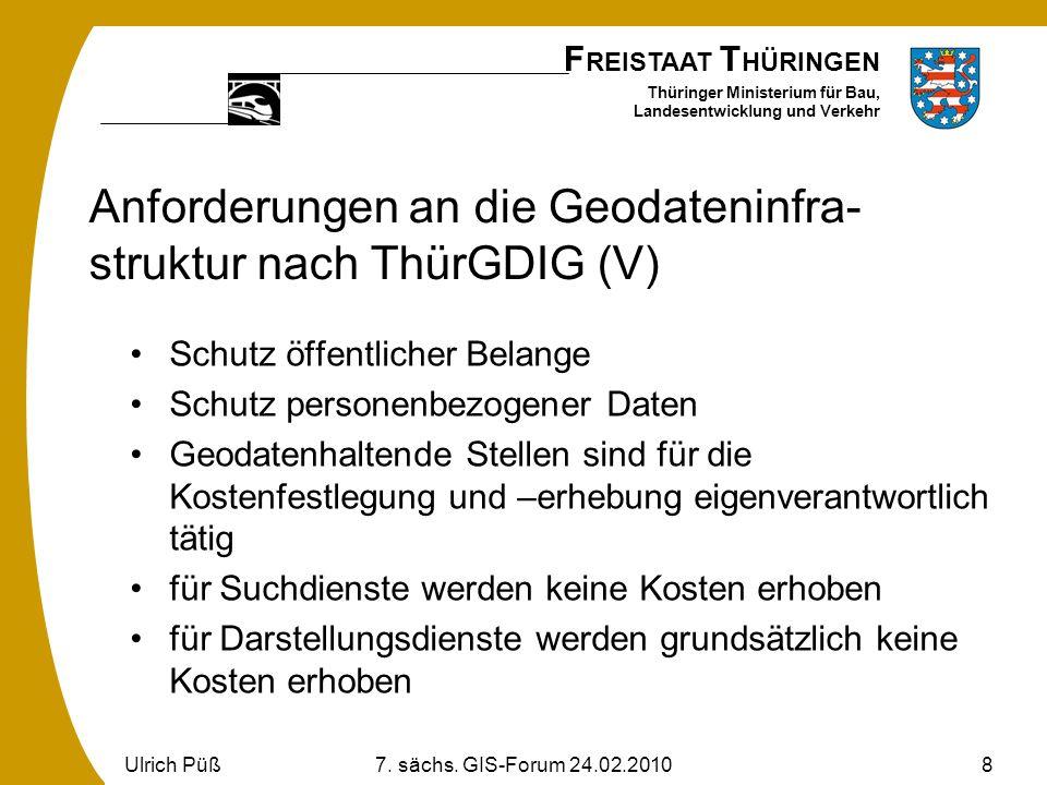 Anforderungen an die Geodateninfra-struktur nach ThürGDIG (V)