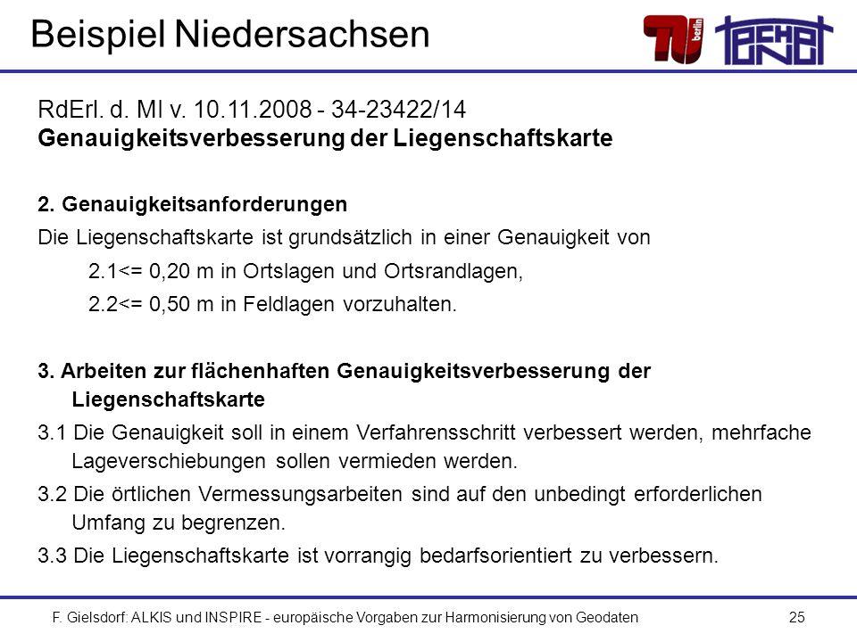 Beispiel Niedersachsen