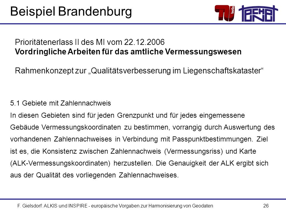 Beispiel Brandenburg Prioritätenerlass II des MI vom 22.12.2006