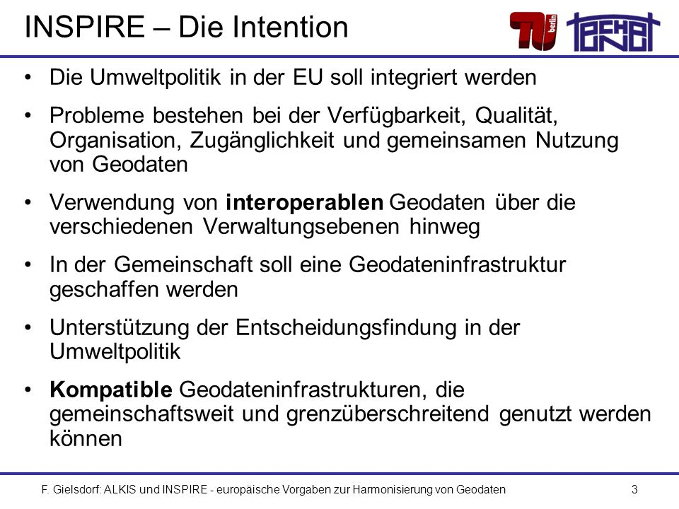 INSPIRE – Die Intention
