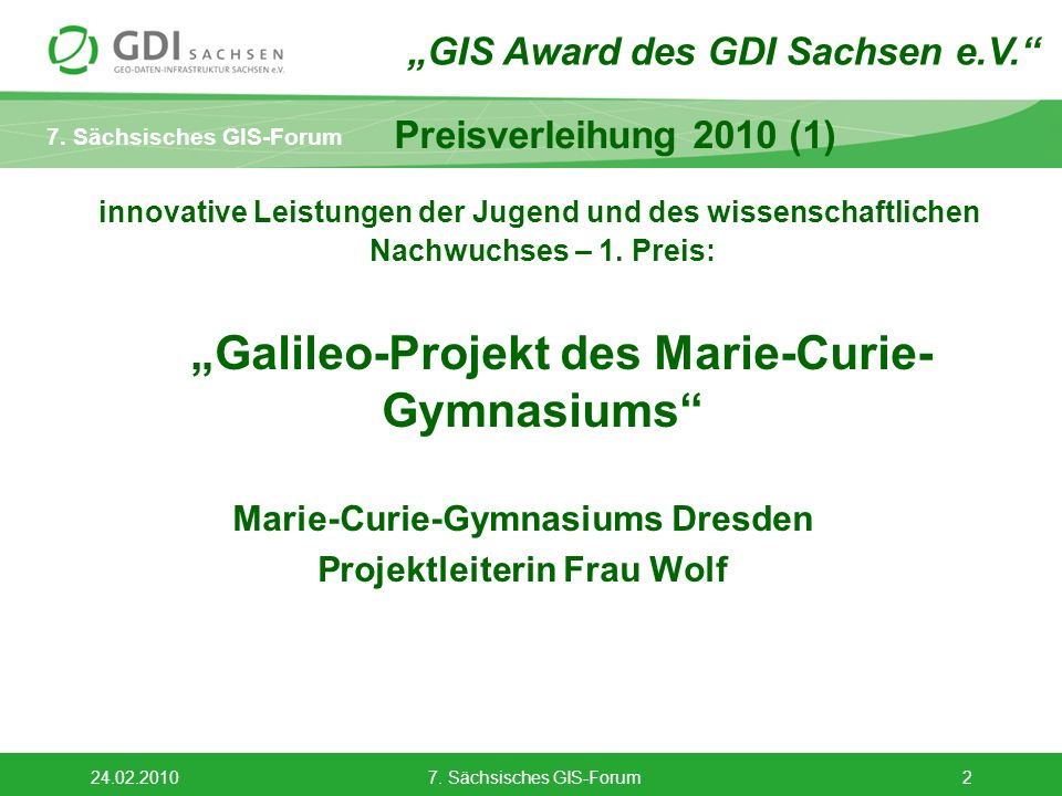 Marie-Curie-Gymnasiums Dresden Projektleiterin Frau Wolf
