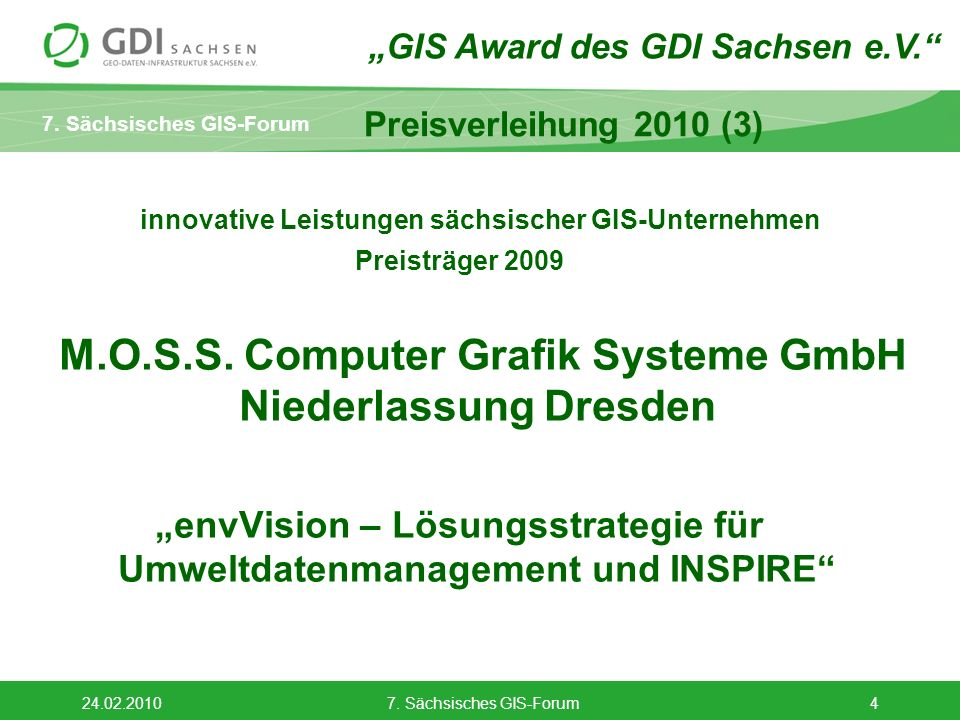 innovative Leistungen sächsischer GIS-Unternehmen