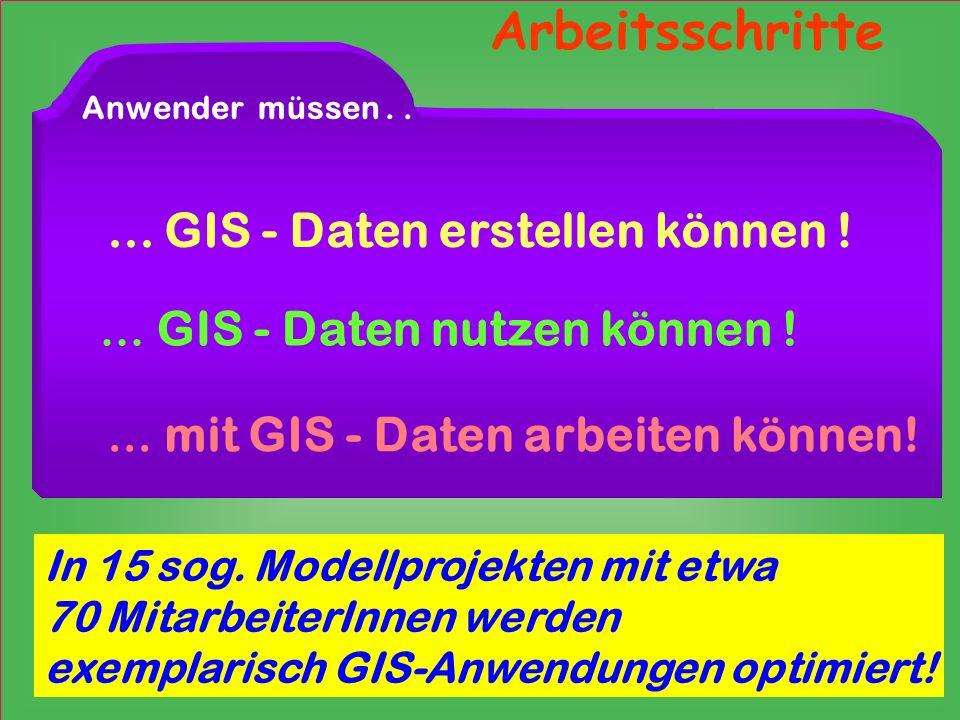 Arbeitsschritte ... GIS - Daten erstellen können !