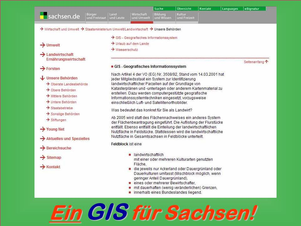 Ein GIS für Sachsen!