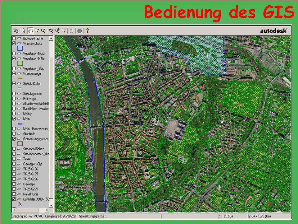 Bedienung des GIS