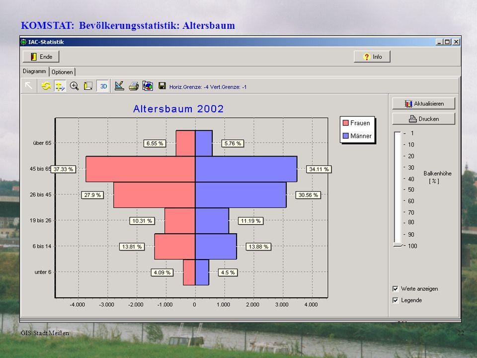 KOMSTAT: Bevölkerungsstatistik: Altersbaum