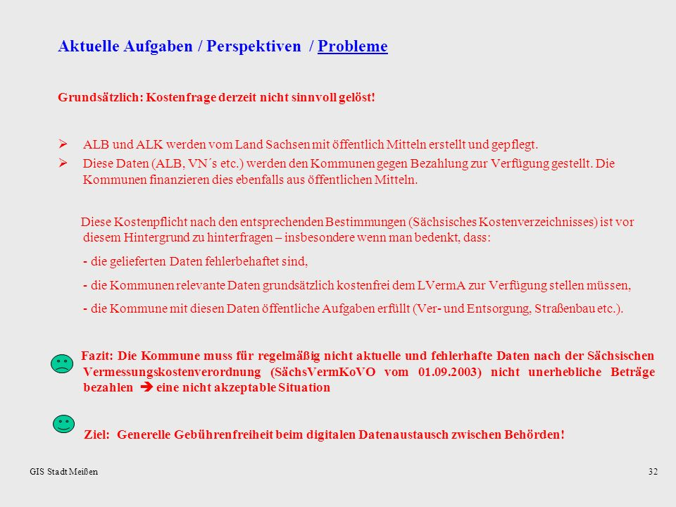Aktuelle Aufgaben / Perspektiven / Probleme