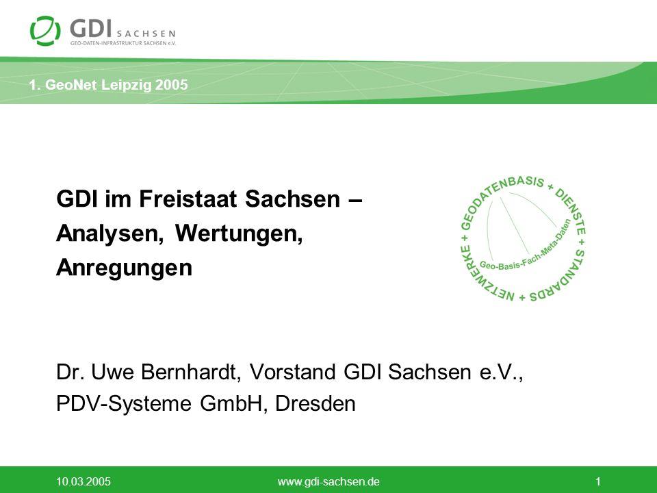 GDI im Freistaat Sachsen – Analysen, Wertungen, Anregungen