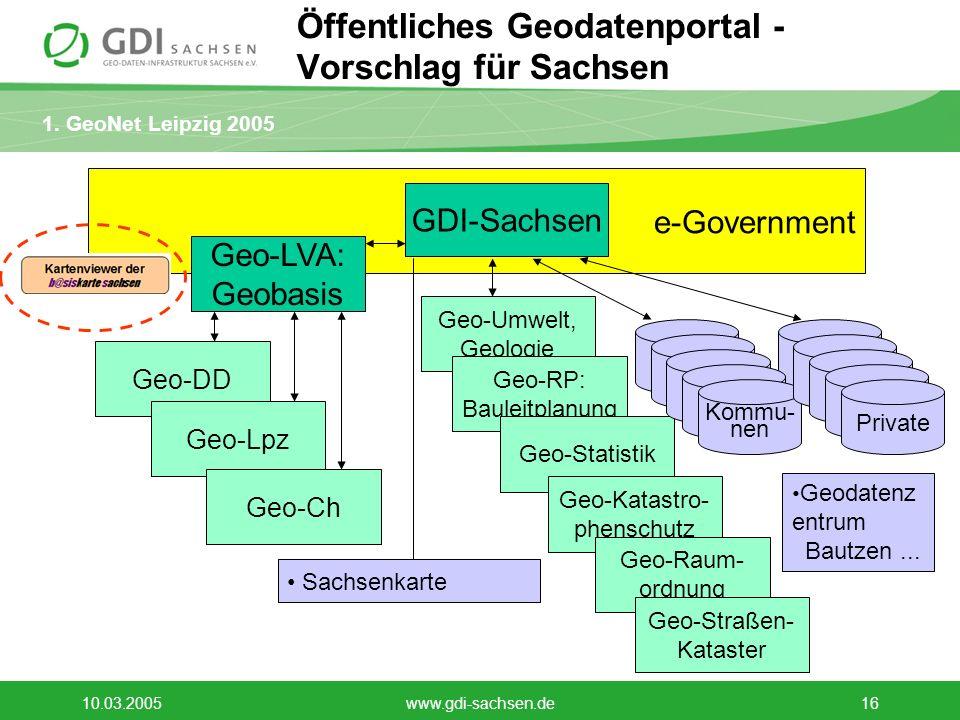 Öffentliches Geodatenportal - Vorschlag für Sachsen