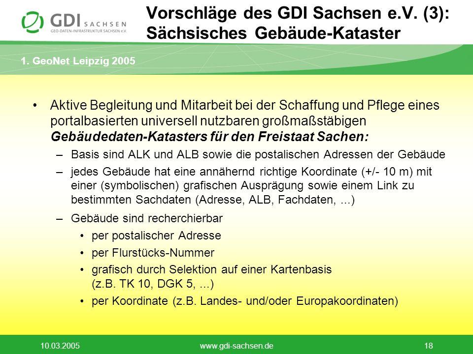 Vorschläge des GDI Sachsen e.V. (3): Sächsisches Gebäude-Kataster