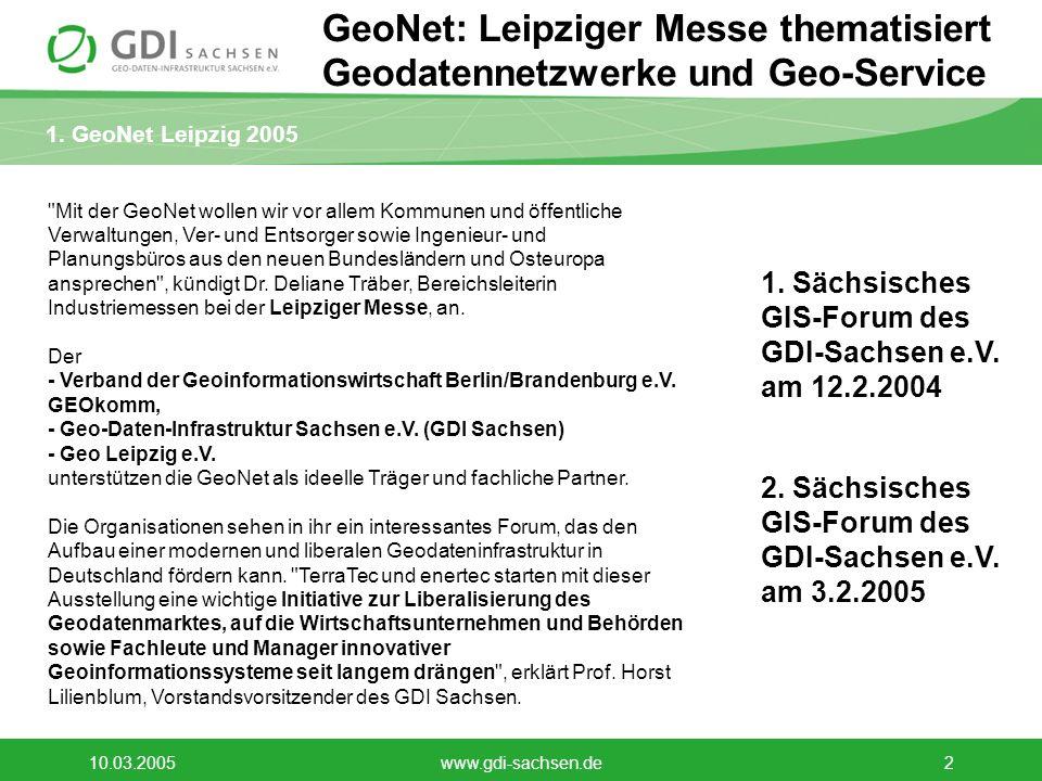 GeoNet: Leipziger Messe thematisiert Geodatennetzwerke und Geo-Service
