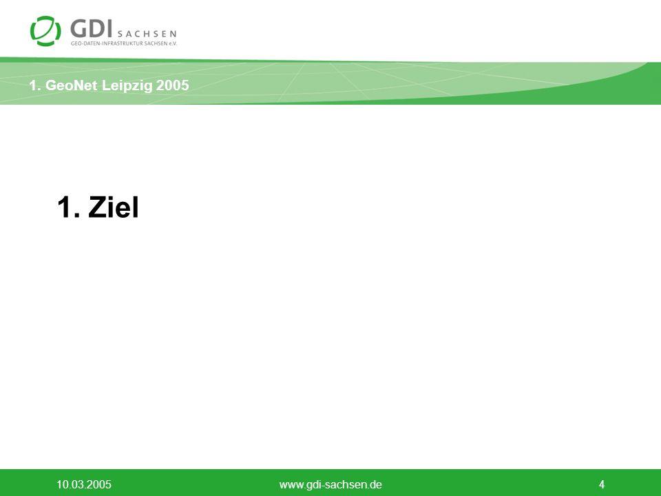 1. Ziel 10.03.2005 www.gdi-sachsen.de