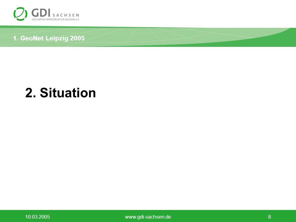 2. Situation 10.03.2005 www.gdi-sachsen.de