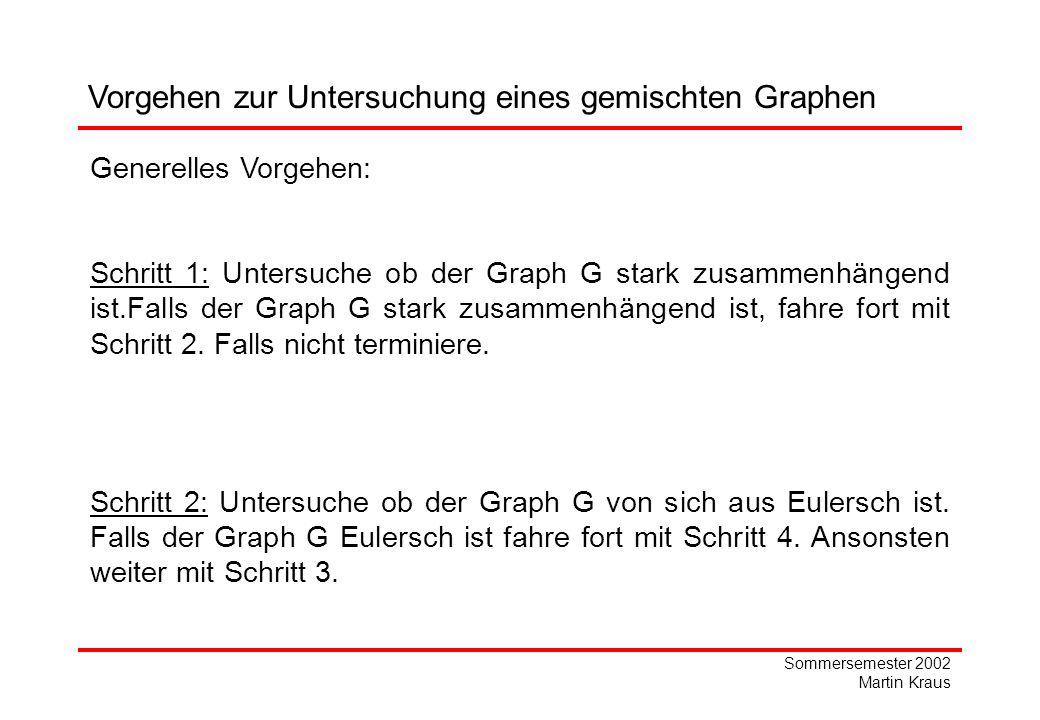 Vorgehen zur Untersuchung eines gemischten Graphen