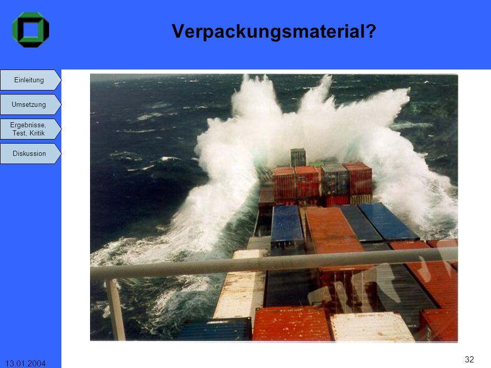 Verpackungsmaterial 13.01.2004