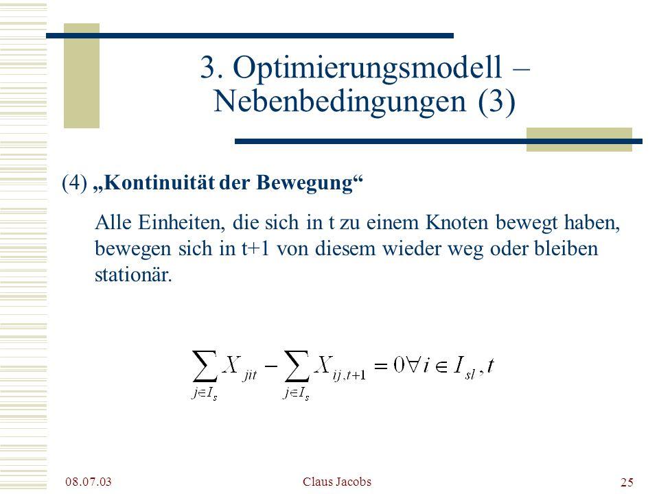 3. Optimierungsmodell – Nebenbedingungen (3)