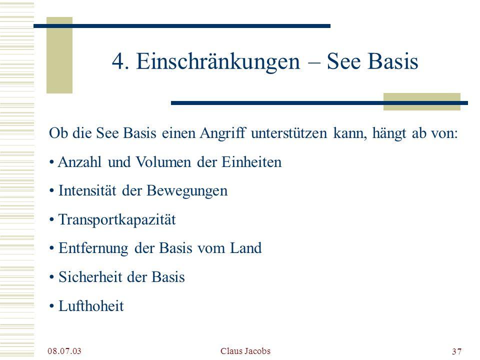4. Einschränkungen – See Basis