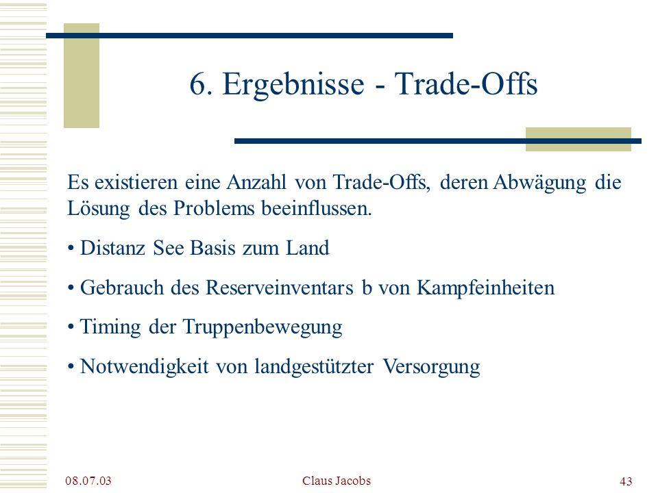 6. Ergebnisse - Trade-Offs