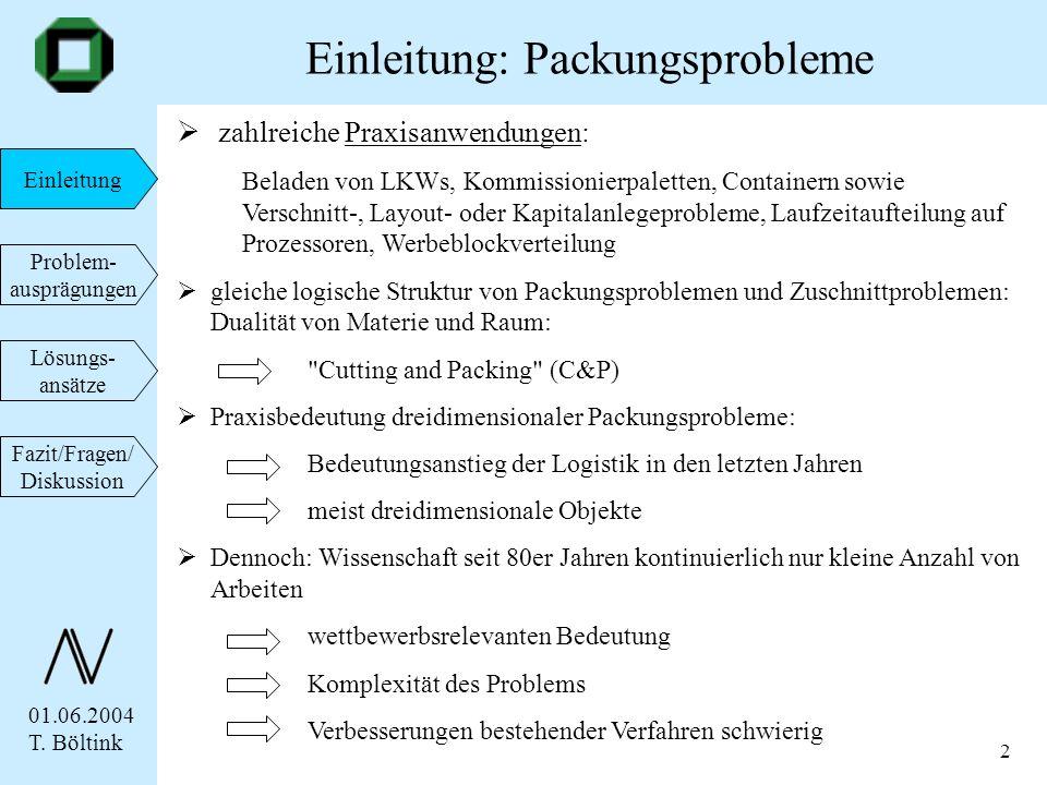 Einleitung: Packungsprobleme