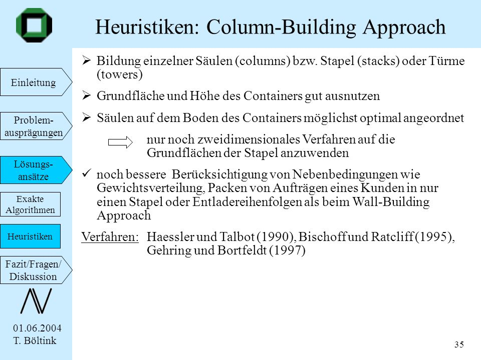 Heuristiken: Column-Building Approach