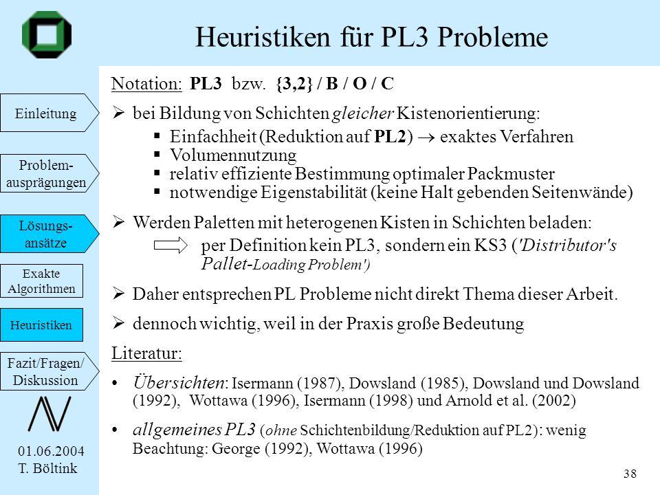 Heuristiken für PL3 Probleme
