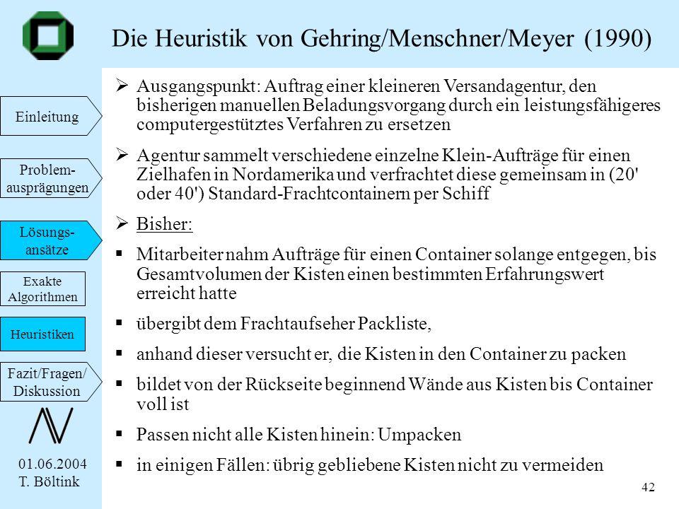 Die Heuristik von Gehring/Menschner/Meyer (1990)