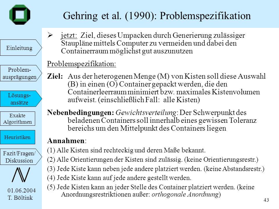 Gehring et al. (1990): Problemspezifikation