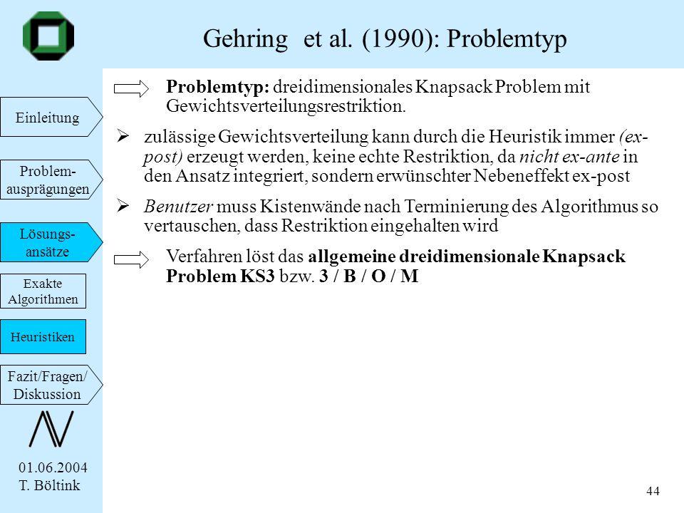 Gehring et al. (1990): Problemtyp