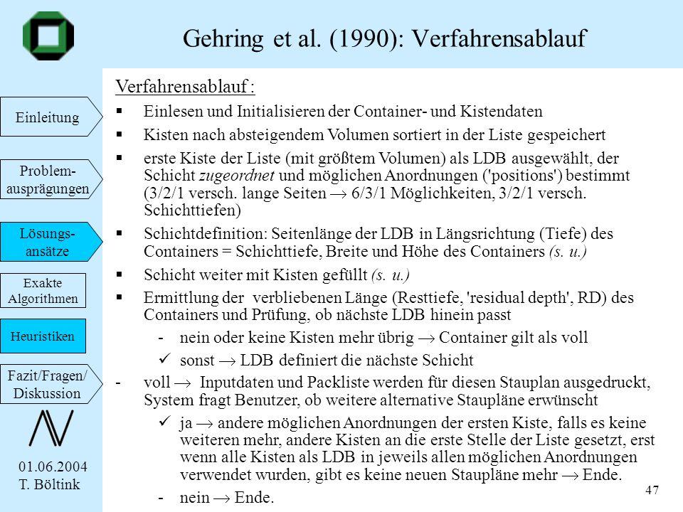 Gehring et al. (1990): Verfahrensablauf
