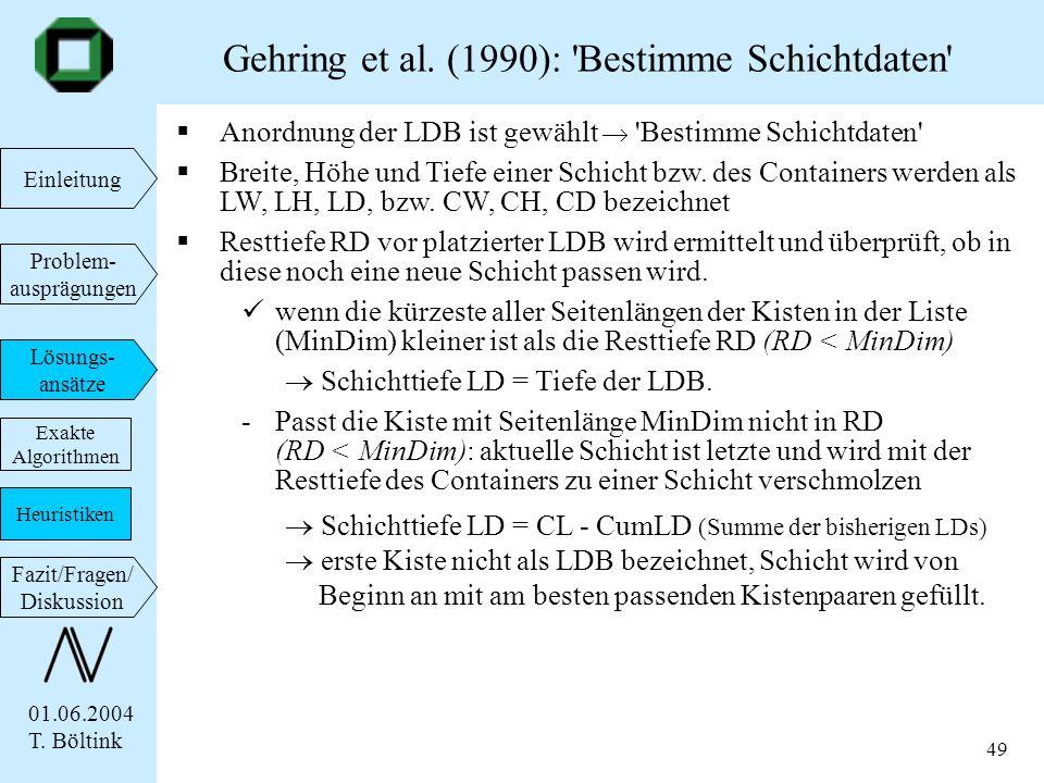 Gehring et al. (1990): Bestimme Schichtdaten