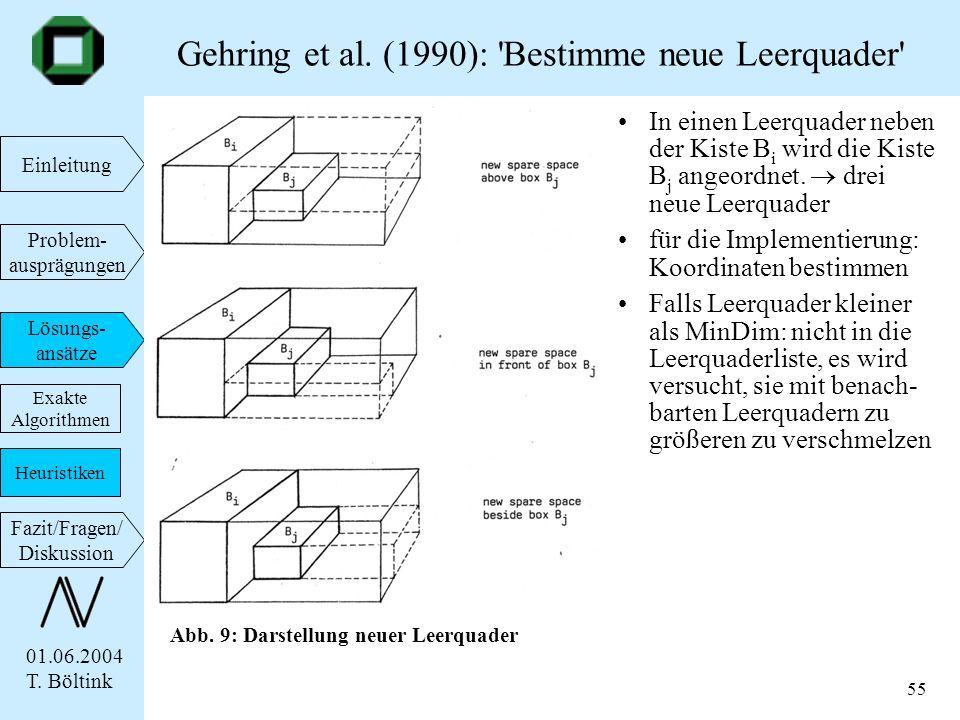 Gehring et al. (1990): Bestimme neue Leerquader