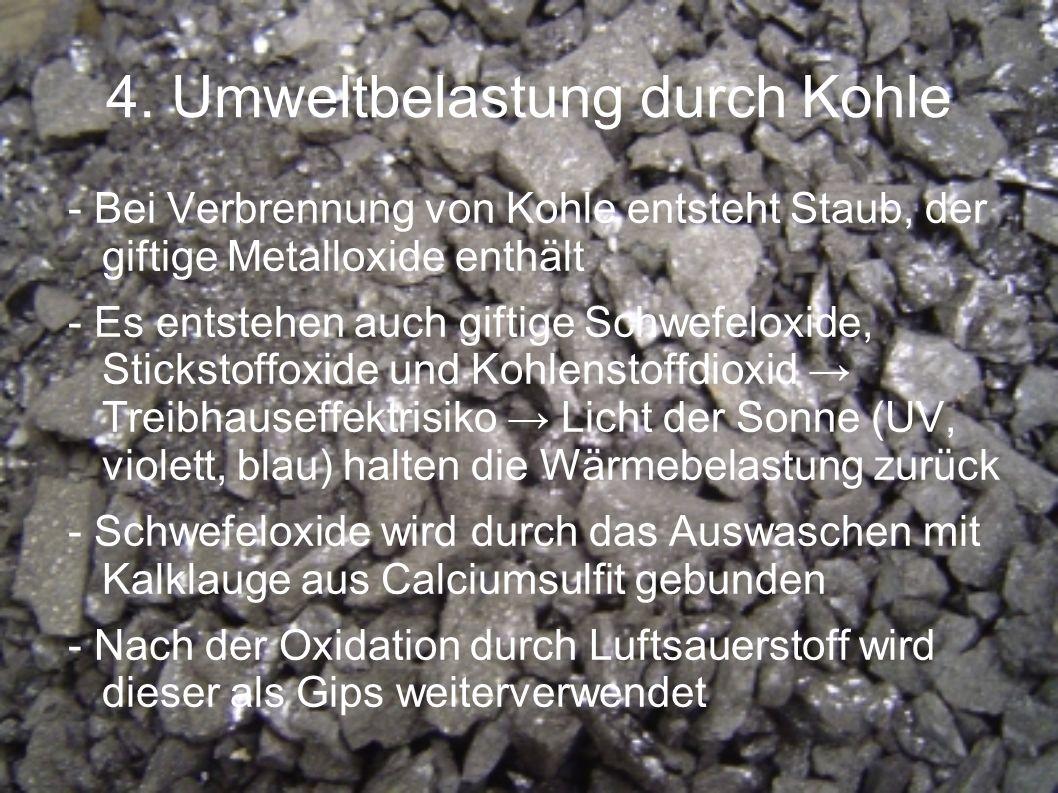 4. Umweltbelastung durch Kohle