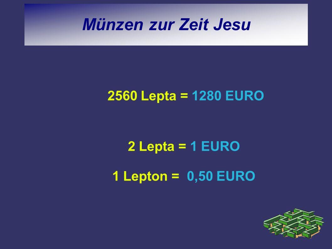 2 Lepta = 1 EURO 1 Lepton = 0,50 EURO
