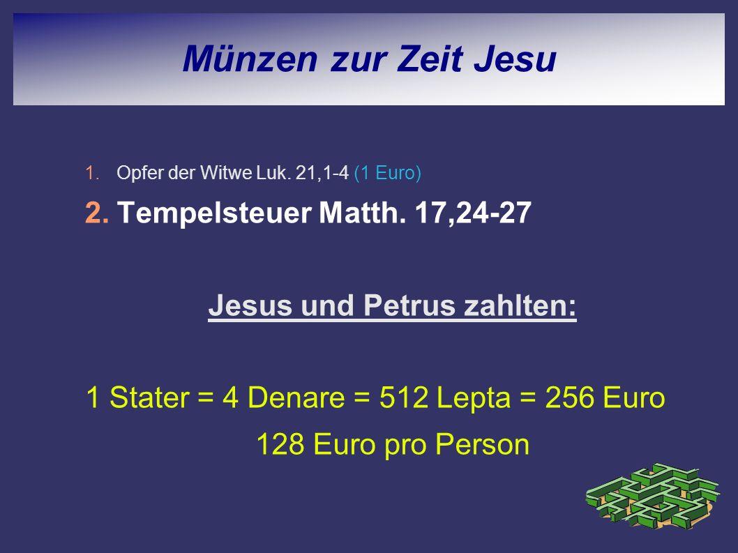 Jesus und Petrus zahlten: