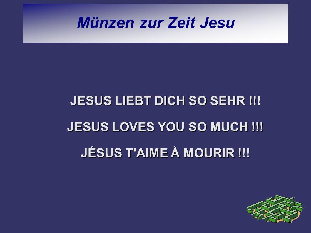 JESUS LIEBT DICH SO SEHR !!!