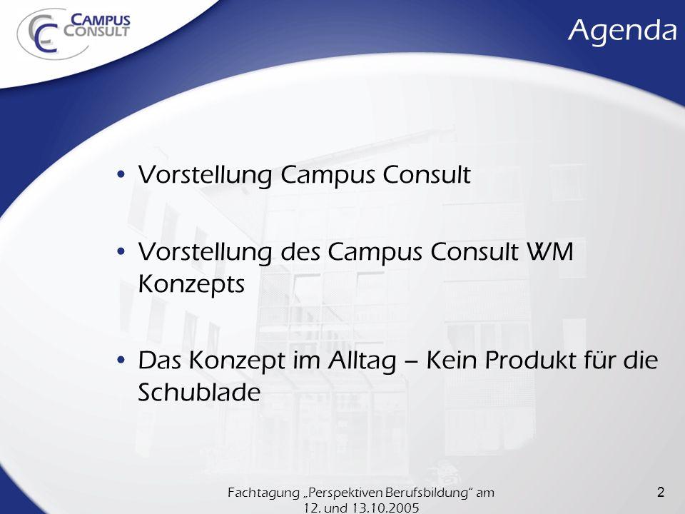 """Fachtagung """"Perspektiven Berufsbildung am 12. und 13.10.2005"""