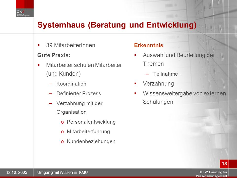 Systemhaus (Beratung und Entwicklung)
