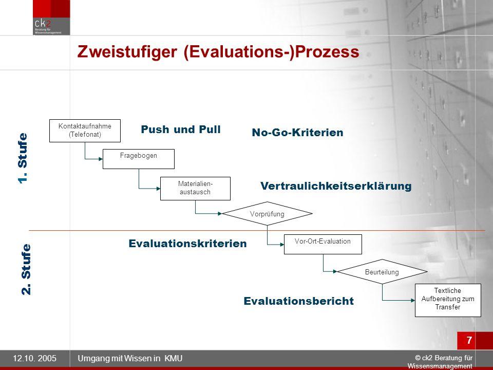 Zweistufiger (Evaluations-)Prozess
