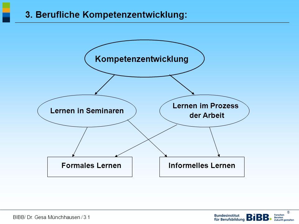 3. Berufliche Kompetenzentwicklung: