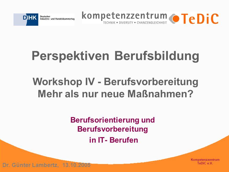 Berufsorientierung und Berufsvorbereitung in IT- Berufen