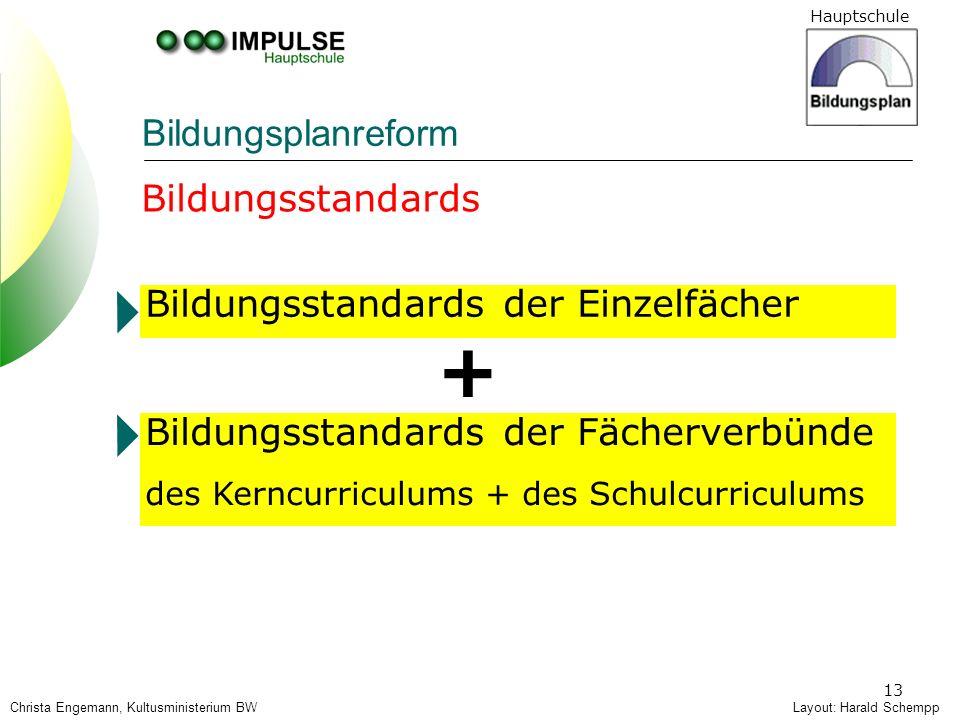 + Bildungsplanreform Bildungsstandards