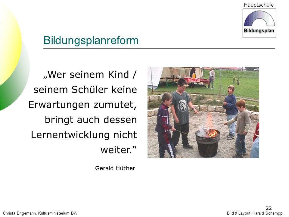 """Bildungsplanreform """"Wer seinem Kind / seinem Schüler keine Erwartungen zumutet, bringt auch dessen Lernentwicklung nicht weiter."""