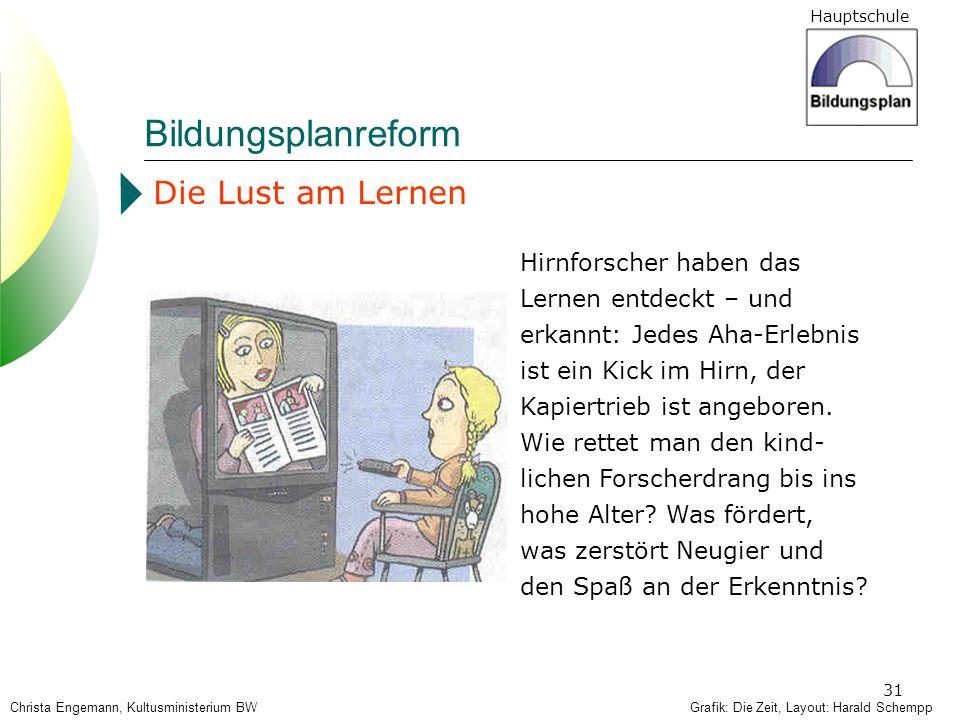Bildungsplanreform Die Lust am Lernen