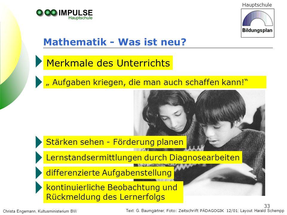 Mathematik - Was ist neu