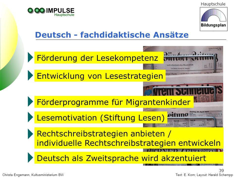 Deutsch - fachdidaktische Ansätze
