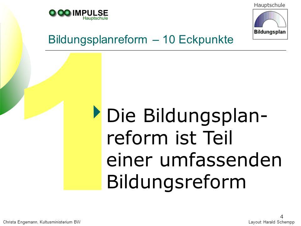 Bildungsplanreform – 10 Eckpunkte