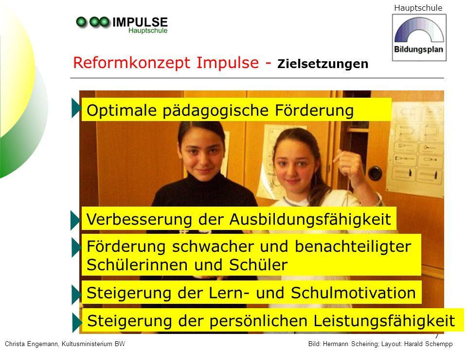 Reformkonzept Impulse - Zielsetzungen