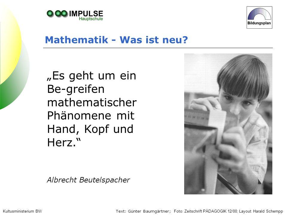 """""""Es geht um ein Be-greifen mathematischer Phänomene mit"""