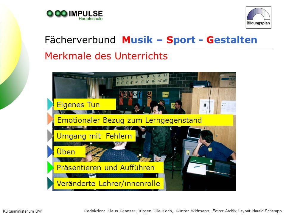 Fächerverbund Musik – Sport - Gestalten