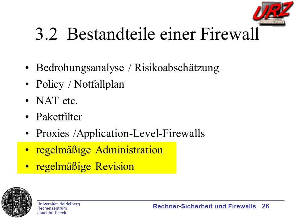 3.2 Bestandteile einer Firewall